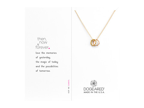 Dogeared Then, Now and Forever Necklace - Gold Dipped/Sterling Silver/Rose Gold/Gold Dipped