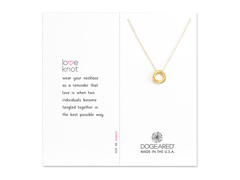 Dogeared Love Knot Necklace - Gold Dipped