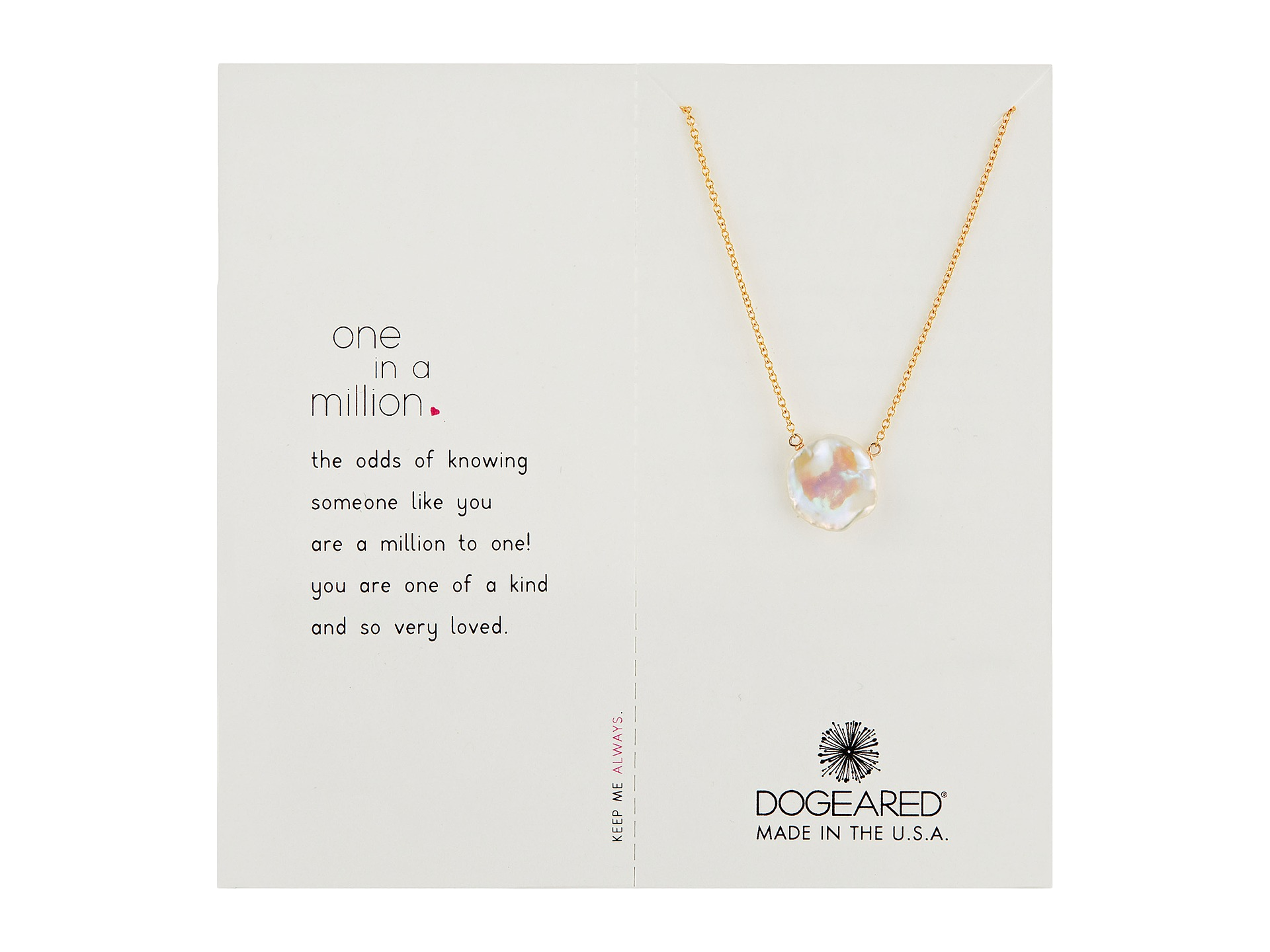 dogeared one in a million necklace at zappos