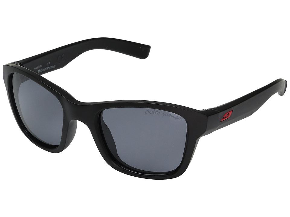 Julbo Eyewear Reach Kids Sunglasses (6-10 Years Old) (Matte Black With Polarized 3 Lens) Sport Sunglasses