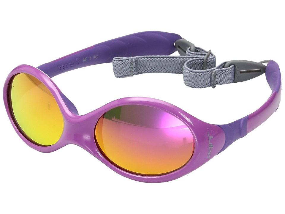 Julbo Eyewear - Kids Looping 3 Sunglasses (Ages 2-4 Years Old) (Pink/Purple With Spectron 3 Color Flash Lens) Sport Sunglasses