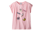 Karl Lagerfeld Kids - Short Sleeve Tee w/ Embroidered Patches (Little Kids)