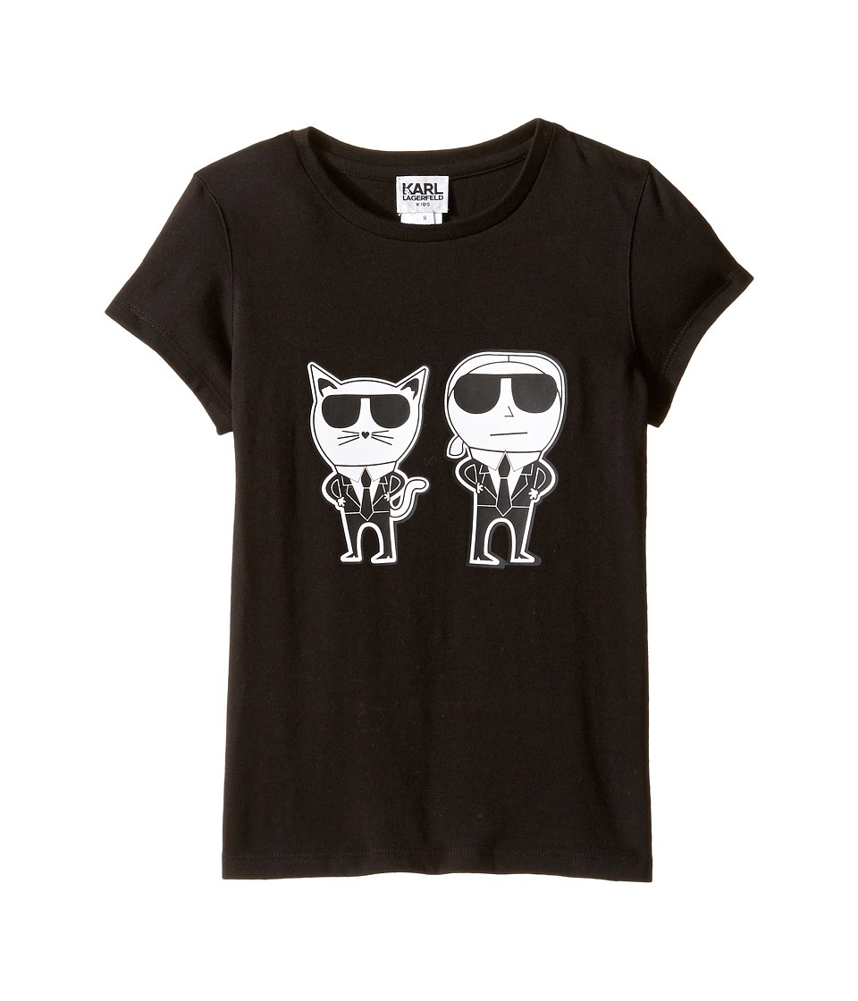 Karl Lagerfeld Kids - Short Sleeve Mini Me with Front/Back Print