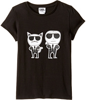 Karl Lagerfeld Kids - Short Sleeve Mini Me with Front/Back Print (Little Kids)