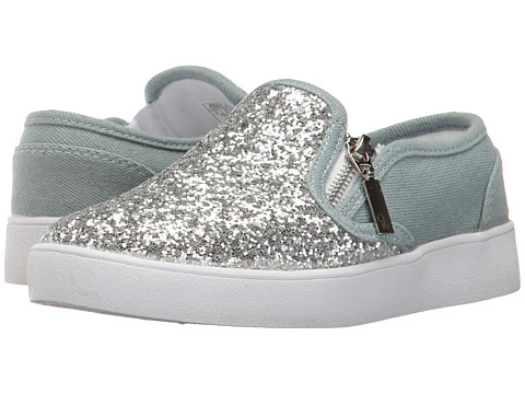 Nine West Kids Deirdrah (Little Kid/Big Kid) - Denim/Silver Glitter