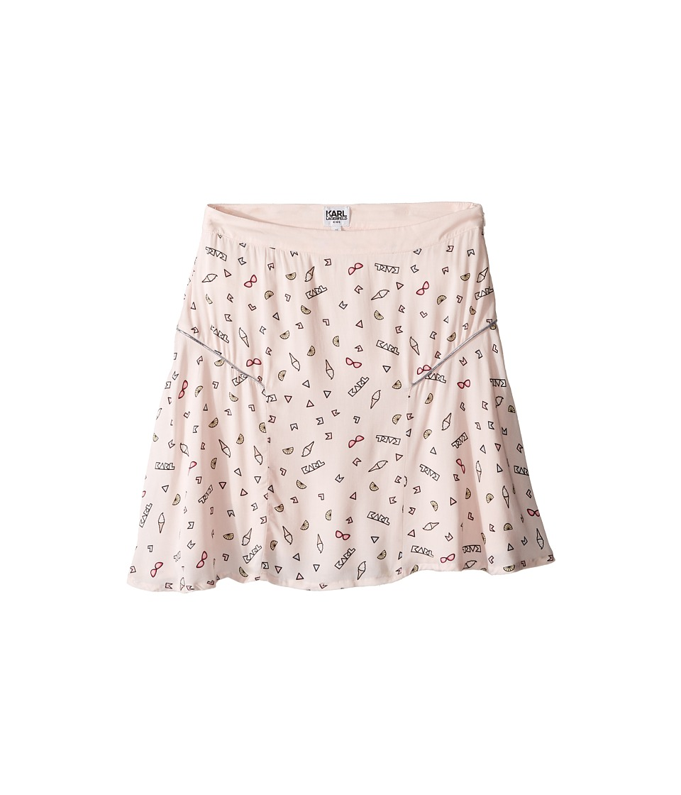 Karl Lagerfeld Kids - Viscose Skirt w/ All Over Ice Cream Print