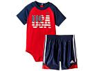 adidas Kids - USA Bodyshirt Set (Infant)
