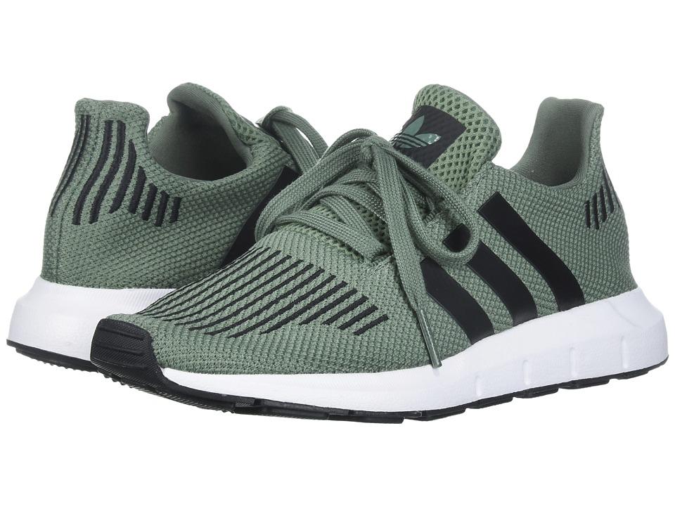 adidas Originals Kids Swift Run (Big Kid) (Trace Green/Black/White) Boys Shoes