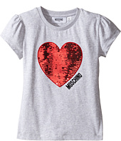 Moschino Kids - Short Sleeve Heart Logo T-Shirt (Little Kids/Big Kids)