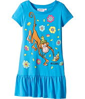 Moschino Kids - Short Sleeve Monkey Graphic Drop Waist Dress (Little Kids/Big Kids)