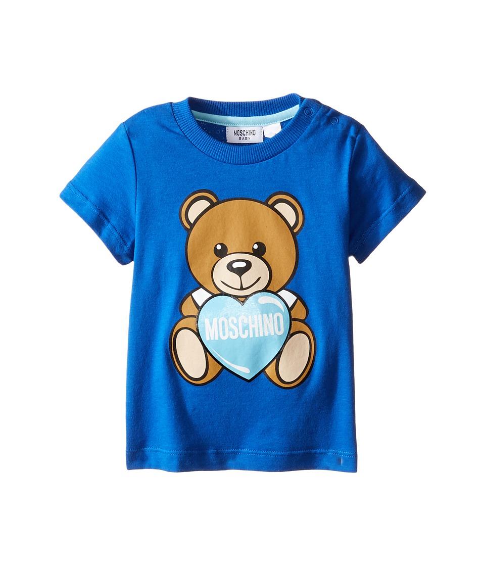 Moschino Kids - Teddy Bear and Heart Graphic Short Sleeve T-Shirt