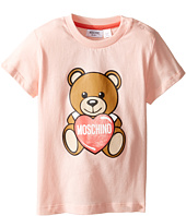 Moschino Kids - Teddy Bear and Heart Graphic Short Sleeve T-Shirt (Infant/Toddler)