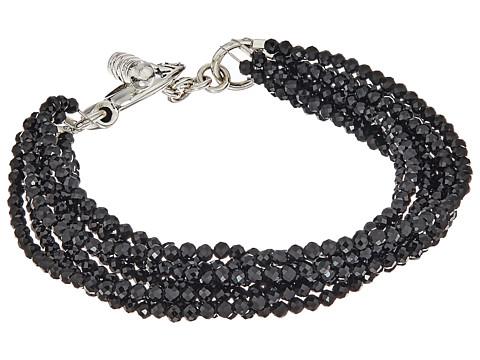King Baby Studio 8 Strand Spinel Bracelet w/ Mini Toggle Clasp - Silver