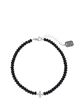King Baby Studio - Faceted Onyx Choker w/ Pave CZ MB Cross
