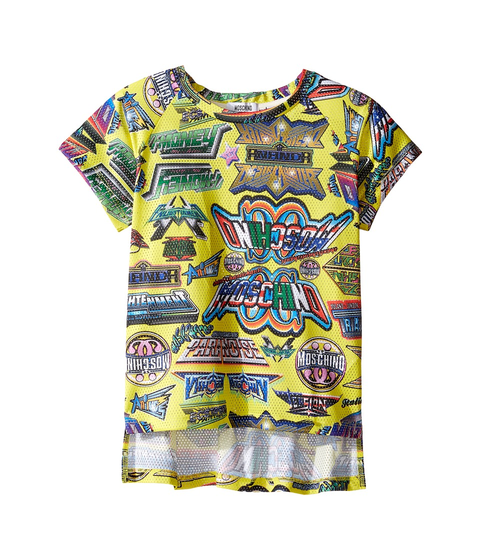 Moschino Kids - Short Sleeve All Over Logo Graphic T