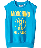 Moschino Kids - Sleeveless Sweat Top w/ Logo on Front (Little Kids/Big Kids)