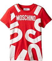Moschino Kids - Short Sleeve T-Shirt w/ Logo Graphic on Front (Little Kids/Big Kids)