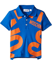 Moschino Kids - Short Sleeve Polo w/ Logo Graphic on Front (Little Kids/Big Kids)