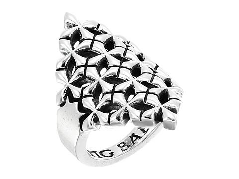 King Baby Studio MB Cross Shield Ring - Silver