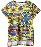 Moschino Kids - Short Sleeve All Over Logo Graphic T-Shirt (Big Kids)