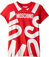 Moschino Kids - Short Sleeve T-Shirt w/ Logo Graphic on Front (Big Kids)