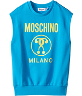 Moschino Kids - Sleeveless Sweat Top w/ Logo on Front (Big Kids)