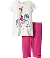 Moschino Kids - Carousel Graphic T-Shirt & Leggings Set (Infant/Toddler)