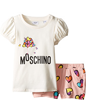 Moschino Kids - Logo Heart Graphic Tee & Shorts Set (Infant/Toddler)