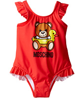Moschino Kids - Teddy Bear Logo One-Piece Swimsuit (Infant/Toddler)
