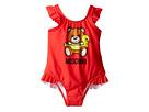 Moschino Kids - Teddy Bear Logo One-Piece Swimsuit (Infant/Toddler)
