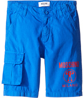 Moschino Kids - Shorts w/ Side Pocket & Logo Detail (Little Kids/Big Kids)