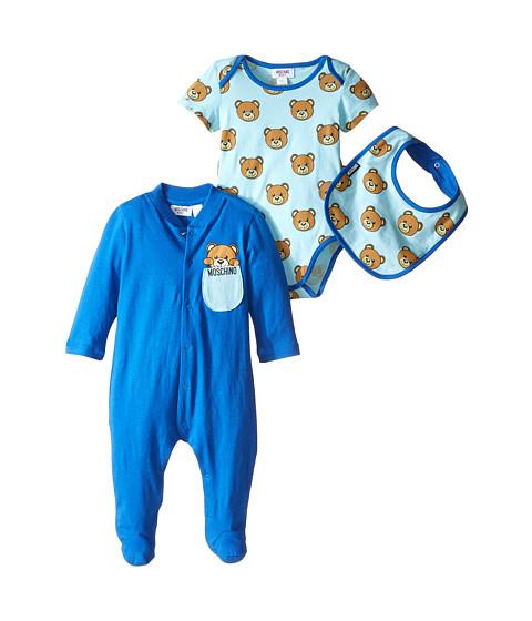 Moschino Kids Teddy Bear Footie Body and Bib Set (Infant)