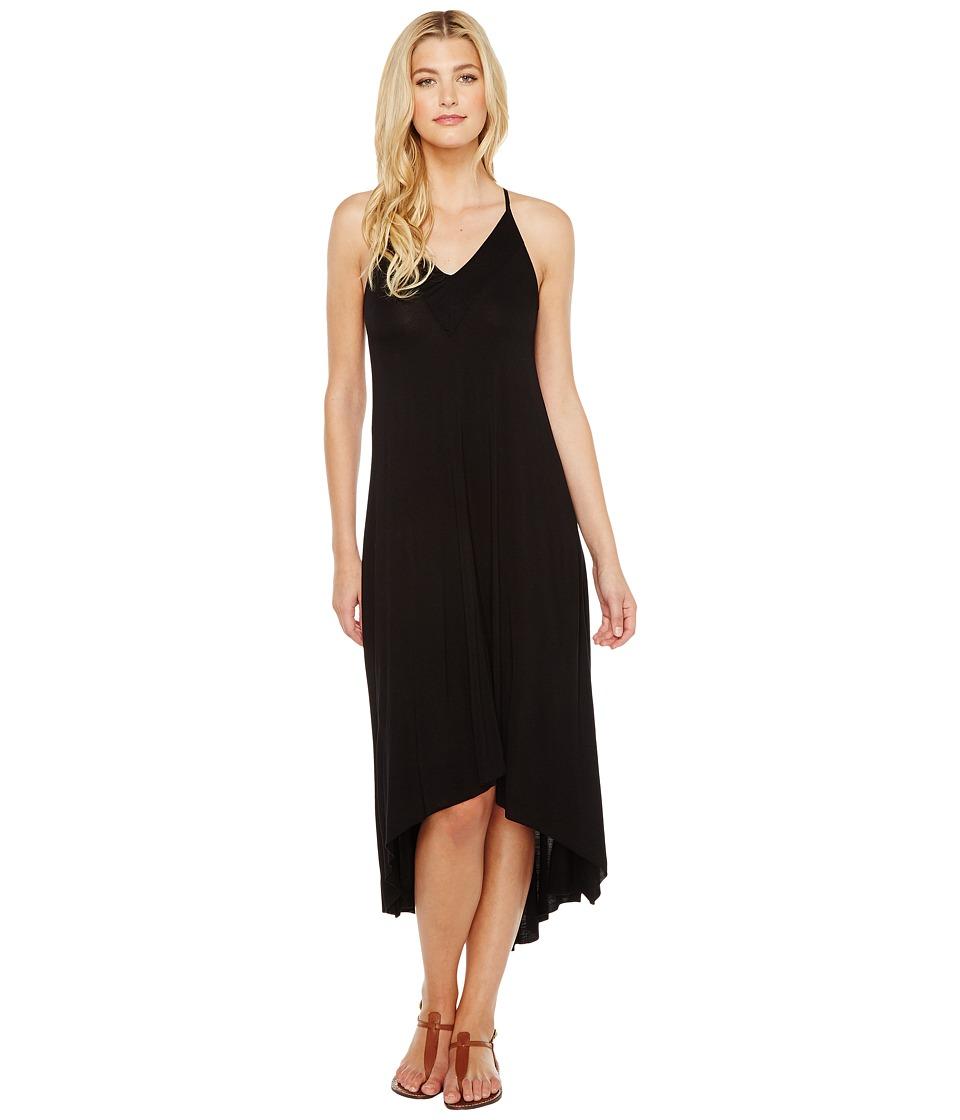 Splendid V-Neck Dress (Black) Women