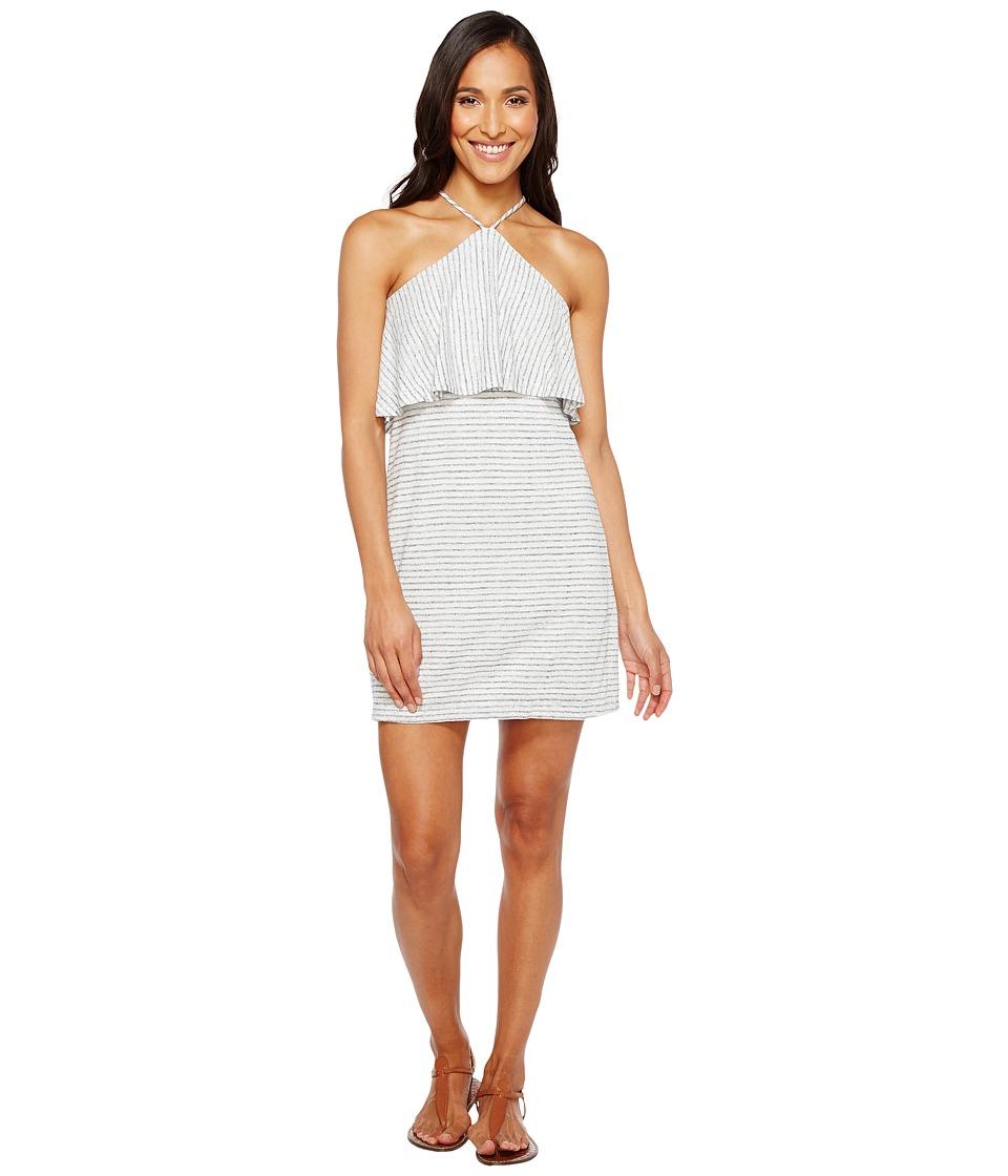 Splendid Halter Dress (White/Navy) Women