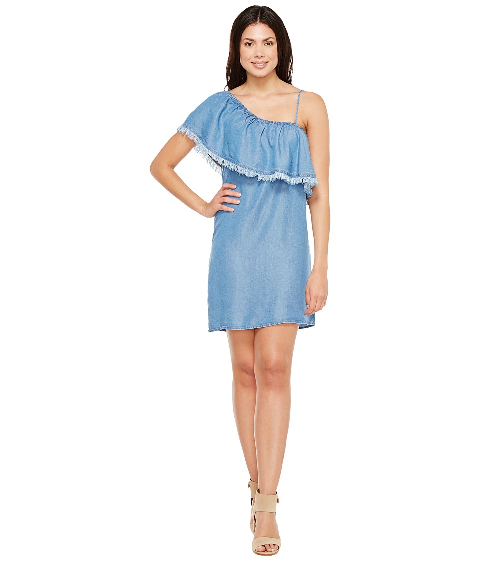 Splendid One Shoulder Dress (Medium Wash) Women