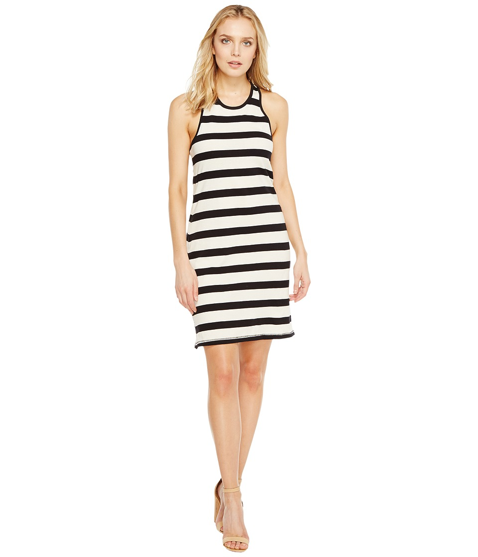 Splendid Racer Tank Dress (Black/Cream) Women