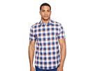 Short Sleeve Large Plaid Slub Shirt