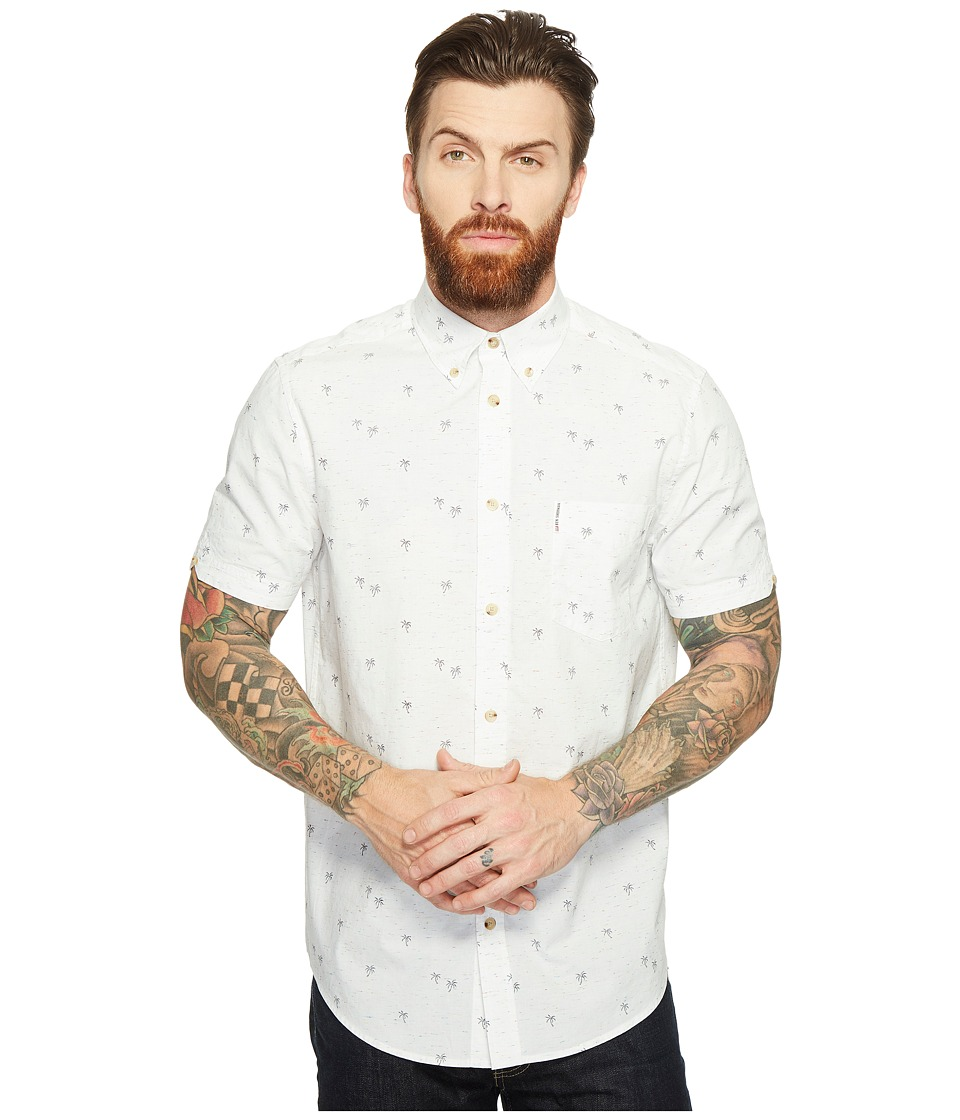 Ben Sherman Short Sleeve Soho Print Shirt (Bright White) Men