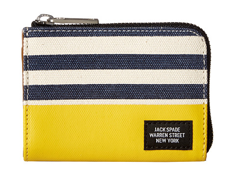 Jack Spade Stripped Dipped Coin Wallet
