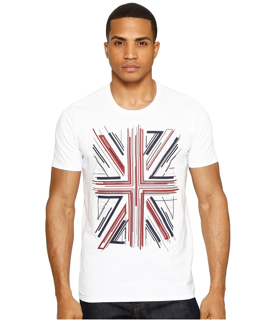 Ben Sherman Union Jack Graphic Tee (Bright White) Men