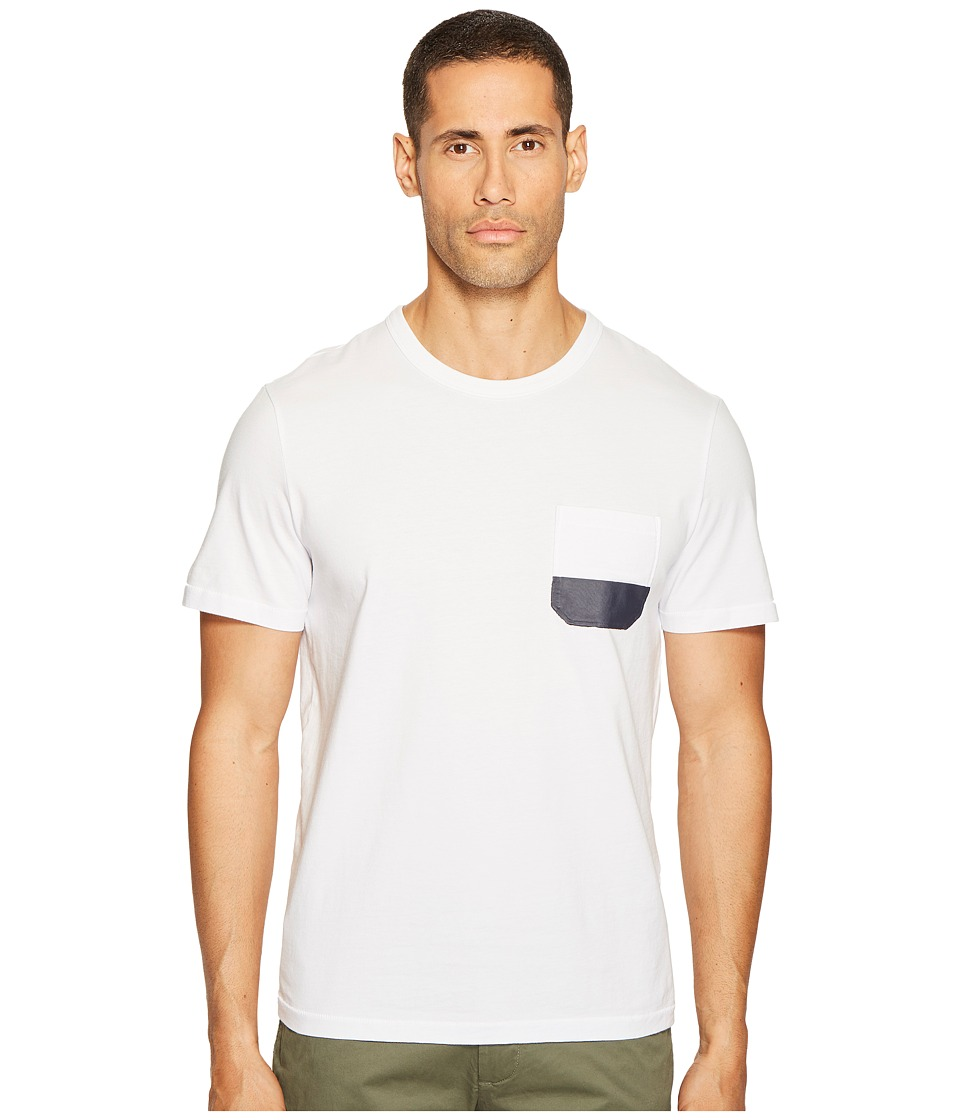 Jack Spade Dipped Pocket Tee (White) Men