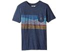 VISSLA Kids - Flagged Short Sleeve Pocket Knit Tee (Big Kids)