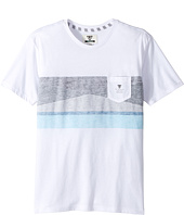 VISSLA Kids - Flagged Short Sleeve Pocket Knit Tee (Big Kids)