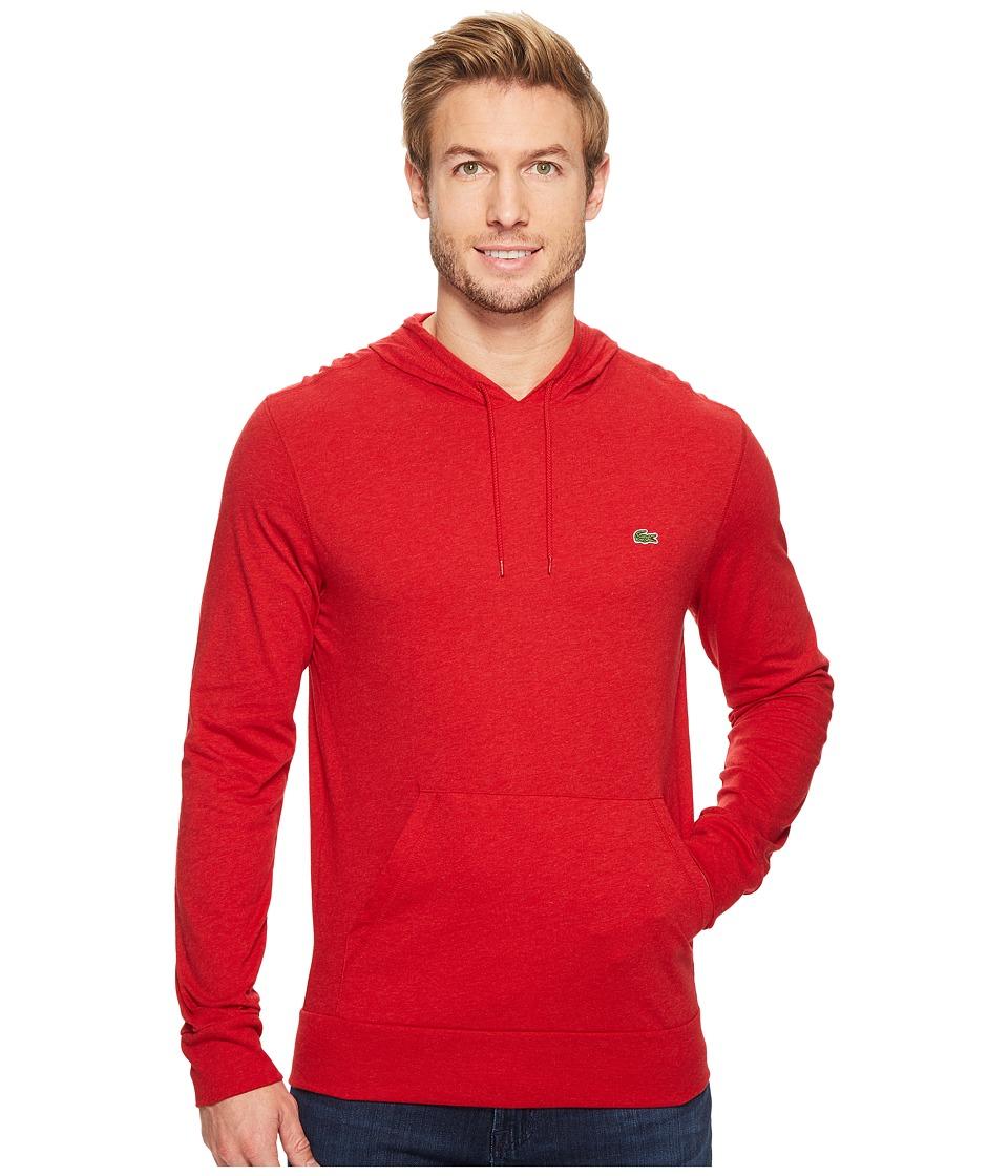 Lacoste Long Sleeve Jersey Hoodie Tee (Grenadine Chine) Men