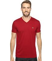 Lacoste - Short Sleeve V-Neck Pima Jersey Tee Shirt