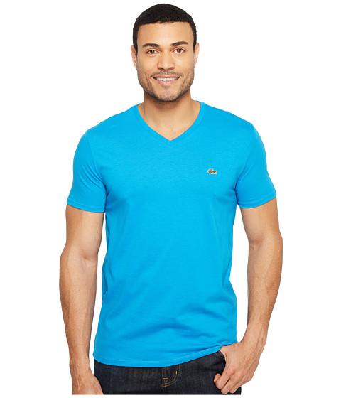lacoste short sleeve v neck pima jersey tee shirt loire. Black Bedroom Furniture Sets. Home Design Ideas
