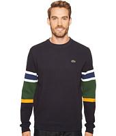 Lacoste - Ottoman Stitch Stripe Sleeve Sweatshirt