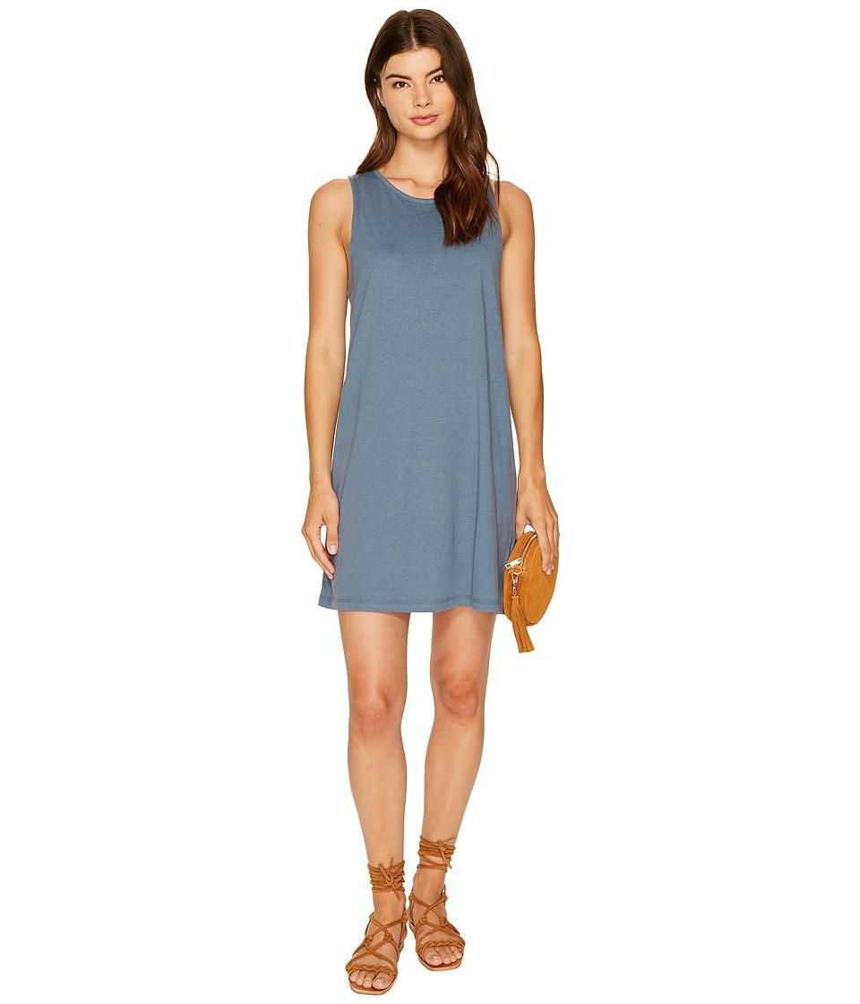 Roxy Just Simple Solid Tank Dress (Chine Blue) Women