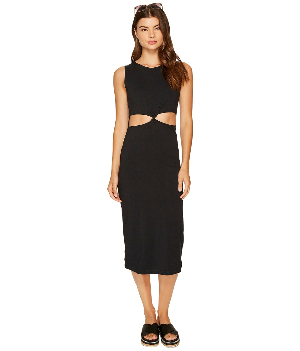Roxy May Blossom Cut Out Mid Length Bodycon Dress (Anthracite) Women