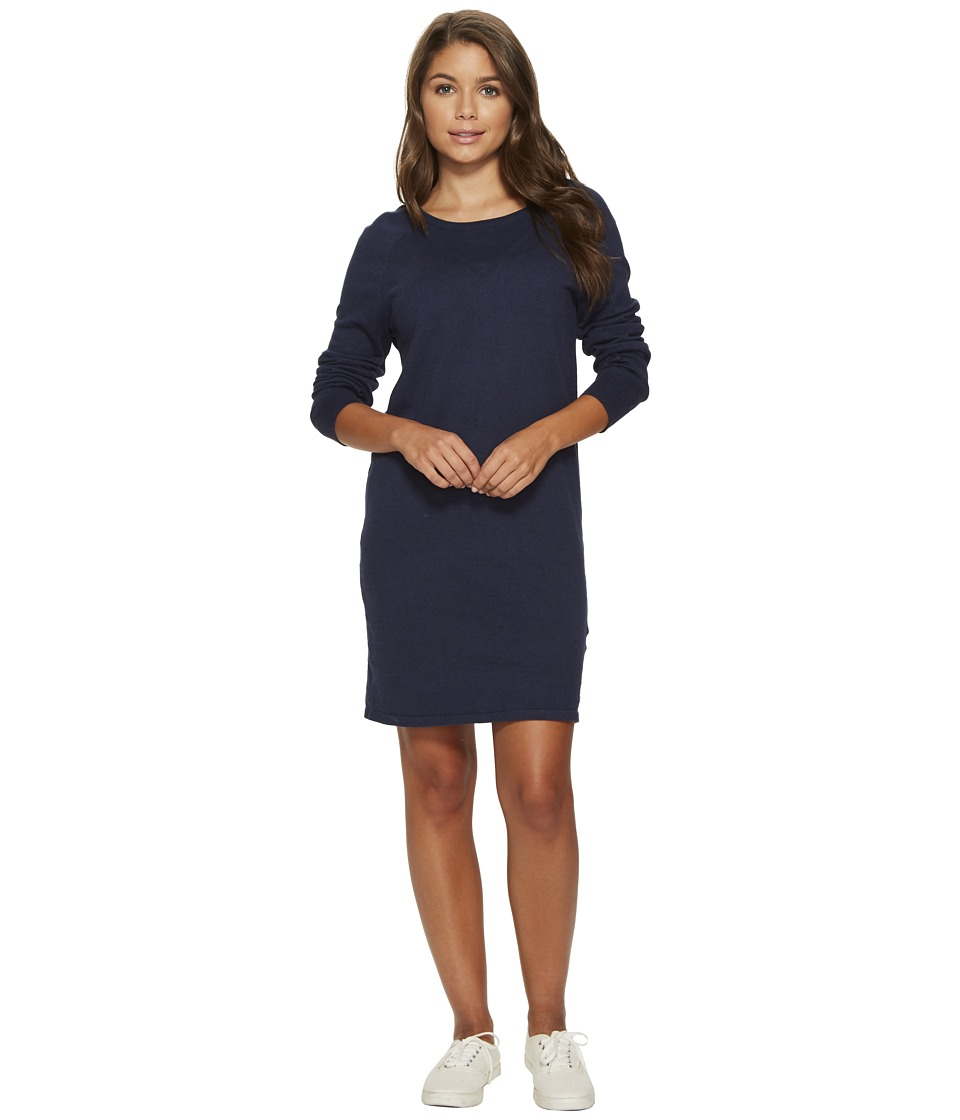 Roxy Winter Story Long Sleeve Button Back Dress (Dress Blues Heather) Women